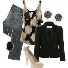 Casual outfit. Good for a night out with the ladies.