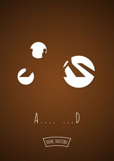 Think Invisible, Negative Space Posters by Adri Bodor and Mark Szulyovszky | http://www.123inspiration.com/think-invisible-negative-space-posters-by-adri-bodor-and-mark-szulyovszky/