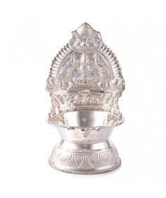 Buy Silver Kamatchi Amman Vilakku  @ affordable price. 100% guaranteed products.