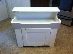 White dry sink