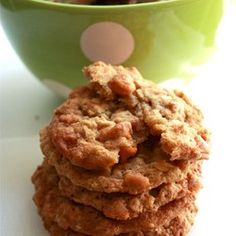 Oatmeal Butterscotch Cookies- original recipe makes 4 doz. cookies, but it could probably be chopped in half.