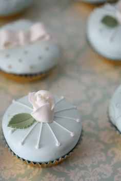 cakes - gold and tiffany blue sweet table