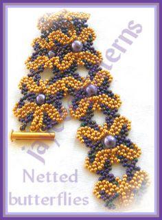 Free Jewelry Pattern: Netted Butterflies pattern