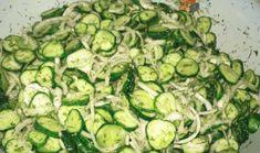 okurkovy_salat Veggie Recipes, Low Carb Recipes, Salad Recipes, Vegetarian Recipes, Cooking Recipes, Healthy Recipes, Healthy Food, Canes Food, Dieta Detox