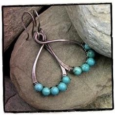Southwestern Blue Turquoise Oxidized Sterling Silver Earrings Drops | CanadianRockiesArt - Jewelry on ArtFire angelfalls 428894 south-western-jewelry