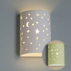 Starry Night Ceramic Cylinder Sconce Wall Sconces
