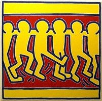 Keith Haring Untitled #3 (Chorus Line) 1988 99 Cents Fine Art