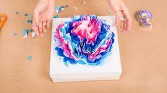 7 Days of Gift Wrapping Ideas: DIY Giant PaperFlowers | StyleCaster