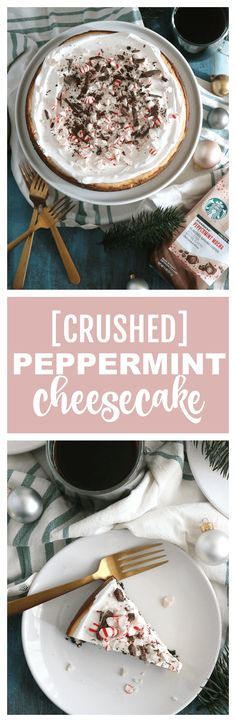 Peppermint Cheesecake - perfect for the holidays! [AD] #SavorHolidayFlavors