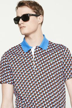 Lacoste | Short Sleeve Interlock All Over l Print Polo Shirt #lacoste #polo #shirt