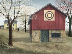 Double Wedding Ring Quilt Block Barn