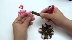 moños y flores en cinta para el cabello paso a paso video NO. 266