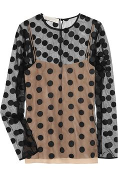 STELLA MCCARTNEY  Vita polka-dot tulle blouse