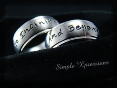 2+Rings++Personalized+Couples+Rings++8mm+Brushed+by+SXpressions,+$50.00