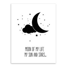 Black White Starry Night Motivational Quote Poster Canvas Wall Art 9 Sizes 4 Designs