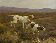 THOMAS BLINKS (British, 1860-1912), English Pointers in a landscape. At auction: Dogs in Show and Field, February 18 2015, 10am
