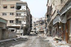 Streets of Darayya. Syria, Street, Walkway