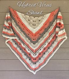 Crochet Shawl Beautiful modern shawl easily adapted to be made bigger or smaller - Crochet Shawl Patterns for Women All Seasons: Crochet shawl for cool evening and coming fall. Shawl wrap for ladies, free pattern and paid Crochet Scarf Easy, Crochet Shawls And Wraps, Crochet Granny, Crochet Scarves, Crochet Yarn, Crochet Clothes, Crochet Stitches, Free Crochet, Crochet Designs