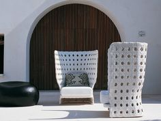 Polyethylene garden armchair Canasta Collection by B
