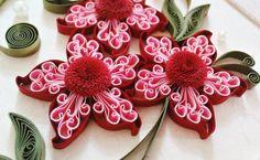bastelideen mit papier rot rosa blume fransen diy romantisch