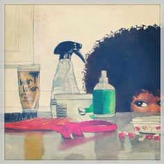 Curly girl product stash. #NaturalHair #Afro
