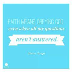 Faith means...