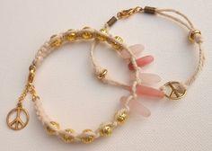 Lot de 2 friendship bracelet en corde naturel et par jewelryBYplk, $24,00