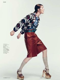 """""""Funny Girl"""" by Dirk Messner for L'Officiel Magazine March 2015"""