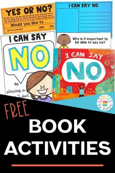 No is a very powerful word, but it isn't always easy to say. Learning to say no is an important step towards setting boundaries and protecting your energy, your beliefs, and your heart. I Can Say No is a great book to show kids that it's okay to say no without feeling guilty. Here are a few activities to pair with this book. Free Teaching Resources, Teaching Strategies, Classroom Resources, Classroom Ideas, Reading Activities, Teaching Reading, Teaching Kids, Learning To Say No, Kids Learning