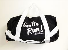 Running Inspired Apparel by Endure  Gotta Run Duffel Bag #runner #gifts #gear
