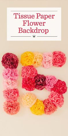 Giant tissue paper flowers create a picture-perfect party backdrop in this fun idea from Hallmark. Learn how to make our easy DIY tissue paper flowers. Mexican Paper Flowers, Easy Paper Flowers, Paper Flowers Wedding, Paper Flower Tutorial, Giant Paper Flowers, Hanging Flowers, Flower Paper, Diy Flowers, Floral Flowers