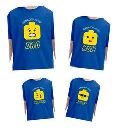 Legoland Lego Personalized Family Tshirts by Tsays on Etsy