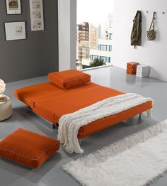 Bora sofá cama abierto / Bora open sofabed