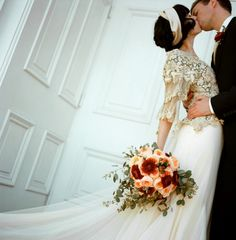 love her dress and bouquet