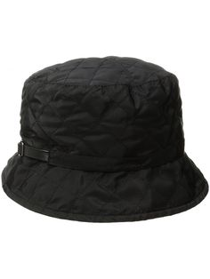 d8020092c70 Women s Quilted Rain Bucket Hat - Black - CP12M1OFWJX