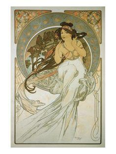 The Arts: La Musique Giclee-tryk i høj kvalitet af Alphonse Mucha på AllPosters.dk