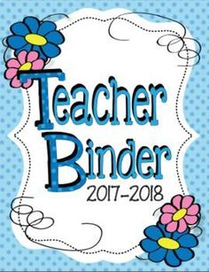 Get organized this coming school year with this customizable Teacher Binder!! This teacher binder kit is chock-full of templates, forms, cover pages, calendars and a year-long weekly planner. Calendars and Weekly Planner beginning June 2017 and running to