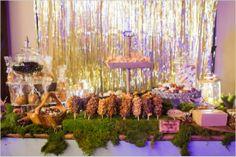 woodland themed treats table