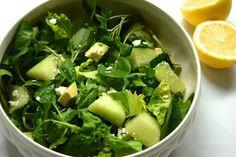 Salade met galiameloen en waterkers