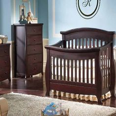 Renaissance Stationary Crib by Baby's Dream, shown in Espresso
