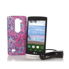 """LG Sunset 4.5"""" 4G LTE Android TracFone w/1350 Minutes"""