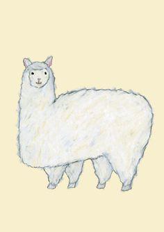 Alpaca by Japanese illustrator - Yusuke Yonezu