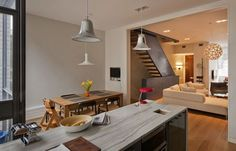 kitchen and dining | Photos: Francis Dzikowski | by Ben and Christine Hansen, architects