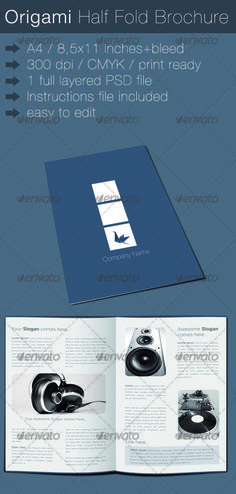 A HalfFold Brochure Template  Function Hall Management