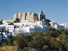 Photographic Print: Chora (Historic Centre) of Patmos and Monastery of St John Theologian (Unesco World Heritage List : Yosemite National Park, National Parks, The Holy Mountain, Samos, Greek Islands, World Heritage Sites, Greece, Places To Go, St John's