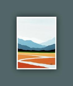 Fine Art Prints, Contemporary art, Abstract Mountain Painting,  Modern Art Prints, Giclee Print, Abstract Landscape Painting - #abstract #contemporary #Modern #mountain #painting #prints - #LandscapePaintings