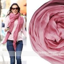 Etsy pink scarf
