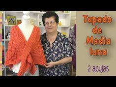 Tapado de media luna tejido a dos agujas o palitos / Tejiendo Perú - YouTube