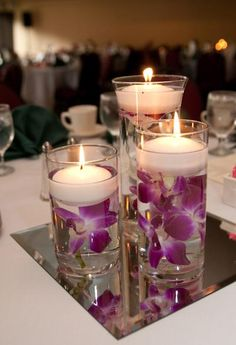 Flower Floating Candle Vase.  --- Planning your dream wedding? www.imaginasianevents.com Twitter @imaginasiane  ---