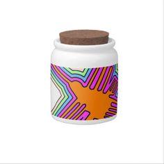 Nazca Hummingbird Peru Drawing Candy Jar - kitchen gifts diy ideas decor special unique individual customized